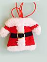 2 개 크리스마스 장식 행복 산타 식기 홀더 포켓 저녁 식사를 장식 festas