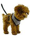 Cães Arreios / Trelas Retratável Vermelho / Preto Téxtil