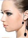 Hot Sell Black Gemstone Alloy Ear Cuffs Daily / Casual 1pc