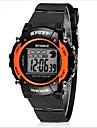 SYNOKE Kids\' Sport Watch Wrist watch Digital LCD Calendar Chronograph Water Resistant / Water Proof Alarm Luminous Rubber Band Black