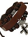 Punk 7cm Men\'s coffee Leather Leather Bracelet (1 Pc)