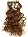 18-дюймовый 7pcs/set Длинные Синтетические Волнистые Клип В Наращивание волос с 16 Clips - 16 Цвета