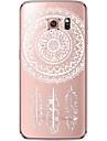 Pour Samsung Galaxy S7 Edge Transparente Motif Coque Coque Arriere Coque Attrapeur de reves Flexible PUT pour SamsungS7 edge S7 S6 edge