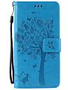 Para Samsung Galaxy Note Porta-Cartao / Carteira / Com Suporte / Flip / Com Relevo Capinha Corpo Inteiro Capinha Arvore Macia Couro PU