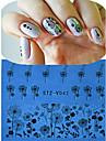 1 Стикер искусства ногтя Полностью накладные ногти Цветы Мультяшная тематика Милый Свадьба макияж Косметические Ногтевой дизайн