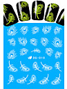 Nail Art наклейки ногтей Полностью накладные ногти / Вода Передача Переводные картинки / Стразы для ногтей