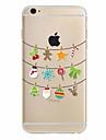 Pour Coque iPhone 7 Coque iPhone 6 Coque iPhone 5 Ultrafine Motif Coque Coque Arriere Coque Noel Flexible PUT pour AppleiPhone 7 Plus