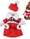 Cachorro Fantasias Roupas para Caes Fofo Fantasias Natal Desenhos Animados Vermelho