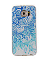 용 패턴 케이스 뒷면 커버 케이스 레이스 디자인 소프트 TPU 용 Samsung S7 edge / S7 / S6 edge / S6 / S5 / S4