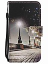 For Motorola MOTO G4 Play G4 Case Cover City Scenery Painted Lanyard PU Phone Case