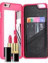 Pour iPhone 8 iPhone 8 Plus iPhone 7 iPhone 7 Plus Etuis coque Porte Carte Miroir Coque Arriere Coque Couleur unie Dur Polycarbonate pour