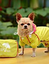 Dog Rain Coat Dog Clothes Waterproof Solid Yellow Red Blue