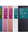 2015 new window view inteligente sono auto dormencia funcao aleta caso capa de couro para o i9600 Samsung Galaxy S5
