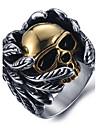 남성용 문자 반지 새해 맞이 패션 의상 보석 티타늄 스틸 Skull shape 보석류 제품 일상 캐쥬얼