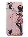 Para iPhone 8 iPhone 8 Plus Case Tampa Com Strass Brilha no Escuro Aspero Translucido Estampada Capa Traseira Capinha Mulher Sensual Macia
