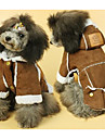 Dog Coat Dog Clothes Cute Casual/Daily Solid Yellow Brown