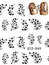 10pcs/set Adesivos para Manicure Artistica Decalques de transferencia de agua maquiagem Cosmeticos Designs para Manicure