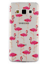 For Samsung Galaxy A3 A5 (2017) Case Cover Flamingo Pattern Drop Glue Varnish High Quality TPU Material Phone Case A3 A5