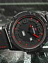 NAVIFORCE 남성 스포츠 시계 밀리터리 시계 패션 시계 손목 시계 캐쥬얼 시계 일본어 석영 달력 큰 다이얼 실리콘 밴드 멋진 캐쥬얼 창의적 럭셔리 우아한 블랙 브라운