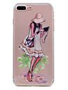 Para iphone 7 mais 7 capas de capa ultra-fina capa transparente capa traseira viajante sexy senhora soft tpu para 6s mais 6 mais 6 se 5s 5