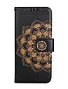Etui pour samsung galaxy s8 plus s8 porte-monnaie flip motif gaufre etui plein corps mandala fleur dur pu cuir pour samsung s7 s7 bord s6