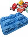 8 Cavity Silicone Car Mold Cake Mold Cake Tools Baking Tools Bakeware ChocolateCandyJelly Molds  Random Color