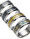 Men\'s Women\'s Couple Rings Cubic Zirconia Costume Jewelry Fashion Titanium Steel Jewelry Jewelry For Daily