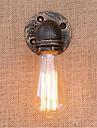 1pcs 녹 수 파이프 복고풍 벽 램프 빈티지 e27 led sconce 벽 조명 110 / 220v에 대 한 램프없이