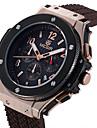 MEGIR 남성용 스포츠 시계 패션 시계 캐쥬얼 시계 시계 나무 손목 시계 독특한 창조적 인 시계 석영 달력 실리콘 밴드 우아한 멋진 캐쥬얼 창의적 럭셔리 블랙 브라운