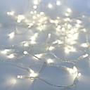 tanie Taśmy świetlne LED-10 m Łańcuchy świetlne 100 Diody LED Dip LED Biały Impreza / Dekoracyjna / Możliwość połączenia 100-240 V 1 szt.