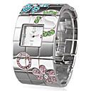 ieftine Bijuterii de Păr-Pentru femei Ceas de Mână Piața de ceas Japoneză Quartz Oțel inoxidabil Argint Ceas Casual femei Lux Floare Boem Atârnat - Argintiu Un an Durată de Viaţă Baterie / SSUO SR626SW