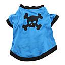 Hund Kostume Trøye/T-skjorte Drakter Hundeklær Pustende Cosplay Halloween Hodeskaller Dyr Blå Kostume For kjæledyr