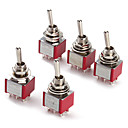 cheap Diodes-6P Toggle Switch For Electronics Diy Ac 250V 2A 120V 5A Spdt On/Off/On(5 Pieces A Pack)