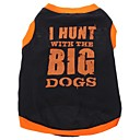 cheap Dog Clothing & Accessories-Dog Shirt / T-Shirt Dog Clothes Letter & Number Black Cotton Costume For Pets