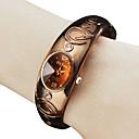 preiswerte Damenuhren-Damen Modeuhr Armband-Uhr Armbanduhr Quartz Band Armreif Bronze - Bronze
