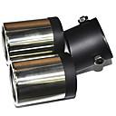 hesapli Araba Şarj Aletleri-Araçlar Egzoz Boru Evrensel Paslanmaz Çelik Susturucu (63mm-İç Çap) LMC-M-041
