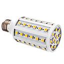 hesapli Köpek Oyuncakları-YWXLIGHT® 1pc 800 lm E26 / E27 LED Mısır Işıklar T 60 LED Boncuklar SMD 5050 Sıcak Beyaz / Beyaz 12 V