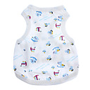 cheap Dog Clothing & Accessories-Dog Shirt / T-Shirt Dog Clothes Cartoon White Cotton Costume For Summer