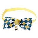 זול אביזרים ובגדים לכלבים-חתול / כלב קולרים עניבת פרפר / פעמון ניילון חום / כחול / ורוד