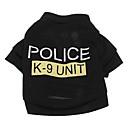 hesapli Bardaklar-Köpek Tişört Köpek Giyimi Harf & Sayı Polis/Ordu Terylene Kostüm Evcil hayvanlar için Klasik