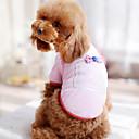 preiswerte Bekleidung & Accessoires für Hunde-Hund T-shirt Hundekleidung Schleife Weiß Schwarz Rose Blau Rosa Baumwolle Kostüm Für Haustiere