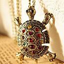 hesapli Küpeler-Kadın's Uçlu Kolyeler - Yapay Elmas Kaplumbağa, Hayvan Lüks, Avrupa, Moda Kolyeler Mücevher Uyumluluk Günlük
