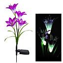 hesapli LED Güneş Enerjili Işıklar-Renk değiştirme Güneş Işık Dekoratif Bahçe Güneş Lily Çiçek Işıklar (BDT-58263B)