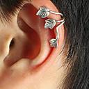 ieftine Cercei-Pentru femei Cătușe pentru urechi Leaf Shape femei Punk European Argilă cercei Bijuterii Auriu / Argintiu Pentru Zilnic 1 buc