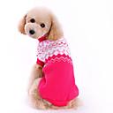 Χαμηλού Κόστους Ρούχα και αξεσουάρ για σκύλους-Σκύλος Πουλόβερ Ρούχα για σκύλους Φιόγκος Τριανταφυλλί Μάλλινο Στολές Για κατοικίδια Ανδρικά / Γυναικεία Μοντέρνα