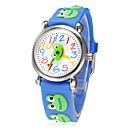 Χαμηλού Κόστους Γυναικεία ρολόγια-Μικρή Γύρος 3D Παιδική Dial Χαμογελώντας Frog Patern Peace Band σιλικόνης χαλαζία αναλογικό ρολόι χειρός