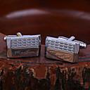 Недорогие Именные аксессуары-Персональный подарок Запонки Нержавеющая сталь Универсальные Классика Подарок