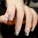 ieftine Machiaj & Îngrijire Unghii-12 pcs 3D Acțibilduri de Unghii Lace Stickers Încântător nail art pedichiura si manichiura Zilnic Floare / Nuntă / Modă / 3D pentru autocolante / ABS