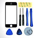 hesapli iPhone Yedek Parçaları-Onarım LCD Ön Ekran Cam Lens iPhone 5 için 3M Sticker ve Meclis Araçları Parça (Siyah)