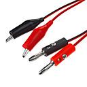 hesapli USB Kabloları-Timsah Klip Probe Kablo Test Banana Plug Kurşun Red & Black (1M / 5 adet)